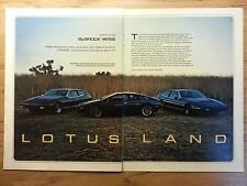 Original 1979 Playboy Article about the Lotus Sports Car Vintage Print Ad