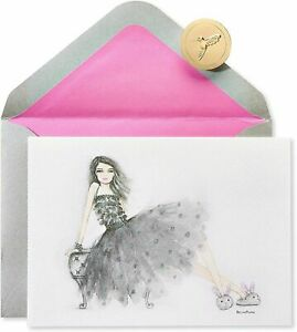 Papyrus Bella Pilar Girl with Bunny Slippers Birthday Greeting Card