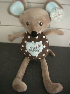 CARD FACTORY MICEST MUMMY MOUSE SOFT TOY