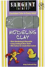 Sargent Art 22-4084 Modeling Clay, Non-Hardening & Reusable, Gray Color