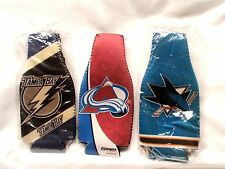 Set of 3 NHL Beer Bootle Zippered Cooler Jackets - Sharks, Avalanche, Lightning