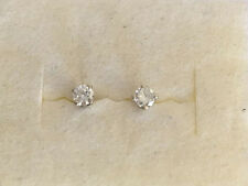 .18 Carat Round Diamond Earrings 14K White Gold stud earrings VS  G H color