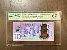 Canada Bank of Canada Bc-75 2017 10$ Polymer PMG 67 EPQ