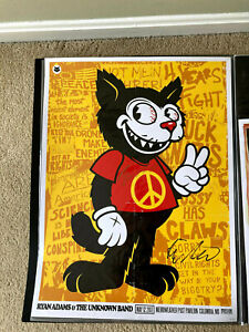 Ryan Adams & The Unknown Band Signed Tour Poster Merriweather MD May 2017