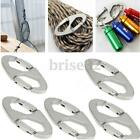5pcs Aluminum Carabiner Snap Clip Hook Bottle Keychain Hiking 8 S Shaped Buckle