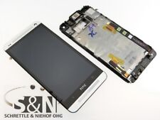 Original HTC ONE M7 LCD Display Cover touch screen Glass Front housing silver