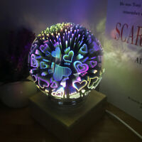 3D Colorful Glass Ball Projector Night Light USB Lamp Home Kids Bedroom Decor