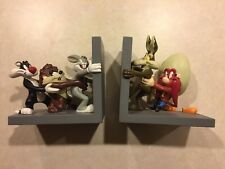 Rare Warner Bros Looney Tunes Bookends Bugs Daffy Taz Sylvester Yosemite Wile E.