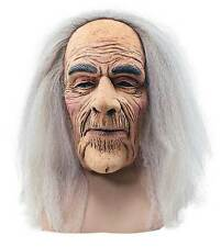 Homme old man wizard latex masque & cheveux gris halloween ghost costume