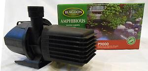 2 Off  Blagdon Amphibious Pond Pumps P9000's  8820  Lt/Hr For Koi Pond