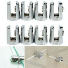 4Pcs Round Shelves Support Glass Shelf Brackets Adjustable Clamps Clips