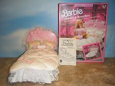 1987 SWEET ROSES BARBIE RIBBONS & ROSES BED
