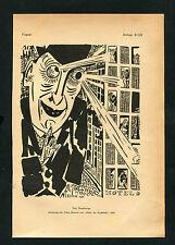 """""""Der Neugierige"""" - Nach einer Zeichnung von Frans Masereel   (J-BE3)"""