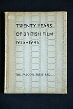 Twenty Years of British Film 1925-1945 HC vintage 1947 uk cinema history