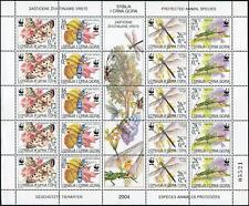Serbia & Montenegro 219 sheet,MNH. WWF 2004.Insects:Parnassiusapollo,Rosalia