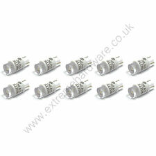 10 x White 5v 10mm T10 Wedge Base LED Bulbs for Arcade Push Buttons - MAME