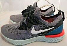 Boys Junior Nike Epic React Flyknit 2 Size UK 3 EU 35.5 Grey Running Trainers