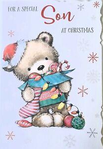 Cute Special Son Christmas Card