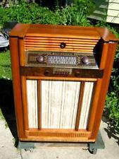 Westinghouse jazz Age Console Floor Radio 14 Tube Green Eye AM FM SW H-113  1947
