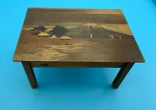 DOLLS' HOUSE MINIATURE - JAPANESE WOODEN INLAID TABLE - 1920's/30's