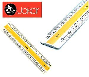 Jakar Professional Metric Plastic Flat Oval Scale Ruler Acrylic Rule 15 or 30cm