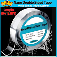 Reusable Nano Tape Double-Side No Trace Washable Invisible Gel Waterproof 1M-5M