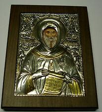 St. Anton Antoine toni argent oklad icone Icon ICONA icone silver икона ikona