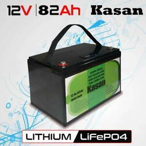 12V 82Ah Lithium Ion Li-ion Battery LiFePO4 Cells Solar Camping Caravan RV