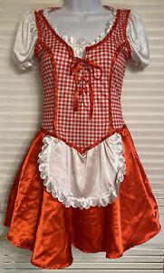 Dutch Octoberfest Girl Bar Waitress Uniform Maid Costume Dress Junior Small 3-5