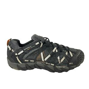 Merrell WaterPro Maipo Grey Blue Lace Up Vibram Outdoor Hiking Shoes Mens Size 9