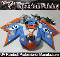 ABS Injection Fairing Kit for DUCATI 848 1098 1198 2007-2012 09 10 Blue & Orange