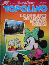 Topolino n°1810 [G.273] - BUONO –
