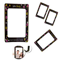 Let's Party Props Photo Booth Selfie Frame for Birthday Christmas Wedding Party