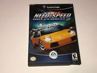 Need for Speed Hot Pursuit 2 Nintendo Gamecube Wii w/Case Authentic