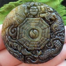 R0065363 Carved Chinese Old jade Pendant Bead