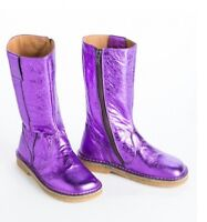 new girls PePe Purple Metallic made in italy leather 24/ us 8 boots shoes