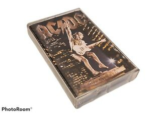 AC/DC STIFF UPPER LIP ALBUM AUDIO CASSETTE TAPE K7 - ELEKTRA 7559-62494-4 RARE!!