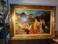 Rare Dorothy R. Dolan Signed Oil on Canvas Painting of the Great Birth (24 by 36