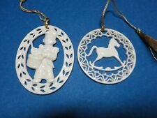 Lenox Christmas Ornaments Little Drummer Boy & Rocking Horse Excellent Condition