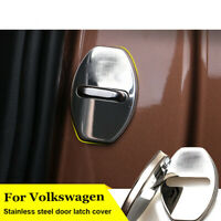 4pcs Car Door Lock Cover Lockstitch Frame Stickers for Golf Passat Polo Tiguan