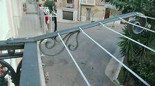 Coppia stendibiancheria, Stendino per balcone inferriate In Ferro Battuto