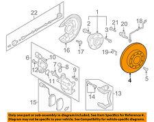 VW VOLKSWAGEN OEM 09-15 CC Rear Brake-Rotor 5Q0615601G