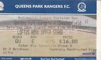 Ticket - Queens Park Rangers v Chesterfield 10.08.02
