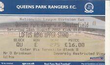 Billet-Queens Park Rangers V Chesterfield 10.08.02