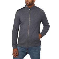 NWT Calvin Klein Men's Full Zip Long Sleeve Jacket Gray Many Sizes 1208407