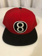SUPREME Red 8 BALL 5 panel snap back hat cap