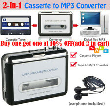 Tape to PC USB Cassette-to-MP3 CD File Converter Capture Audio Music Player NEW