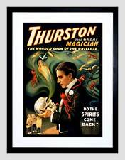 THEATRE VAUDEVILLE THURSTON MAGIC STAGE SHOW VINTAGE FRAMED ART PRINT B12X2920