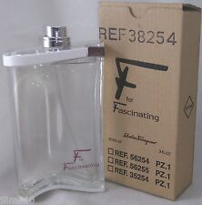 jlim410: Salvatore Ferragamo F for Fascinating, 90ml EDT TESTER cod ncr/paypal