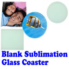 10x SUBLIMATION ink BLANK GLASS COASTERS round / Square 10CM heat press